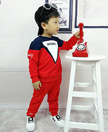 Aww Hunnie Boys Autumn Winter Track Suit - Red