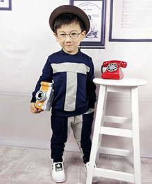 Aww Hunnie T Boys Autumn Winter Track Suit - Blue