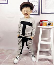 Aww Hunnie T Boys Autumn Winter Track Suit - Grey