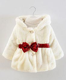 Pre Order - Lil Mantra Winter Jacket - White