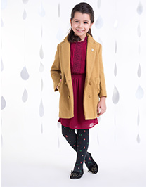 One Friday Girls Bow Jacket - Brown