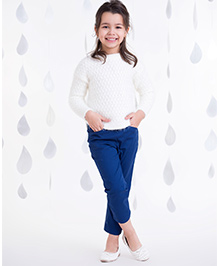 One Friday Girls Soft Knitted Sweater - Off White
