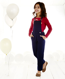 One Friday Smart Dungaree - Navy Blue