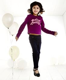 One Friday Girls Fleeze T-Shirt - Purple