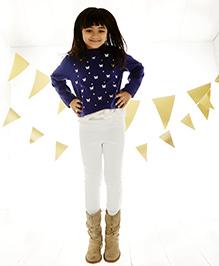 One Friday Girls Knitted Trouser - White
