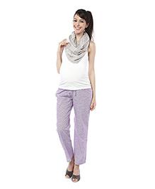 Nine Full Length Maternity Printed Pyjama - Lavender