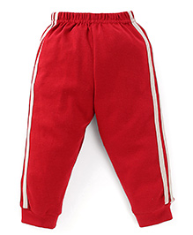 Ollypop Track Pants With Side Stripes - Red