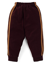 Ollypop Track Pants With Side Stripes - Brown