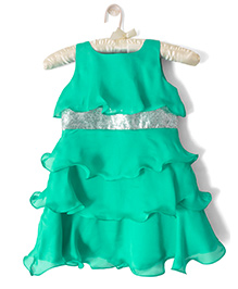Nitallys Classy Layered Dress - Sea Green