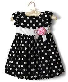 Nitallys Dotted Balloon Dress - Black & White