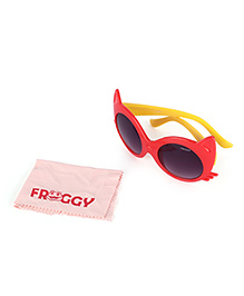 Froggy Sunglasses Cats Eye Design - Red