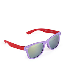 Froggy Silver Dot Sunglasses With Selvet - Purple