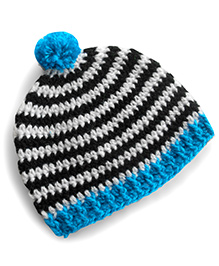 Dollops Of Sunshine Striped Hat - Blue
