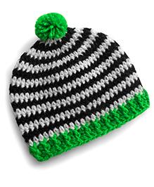 Dollops Of Sunshine Striped Hat - Green