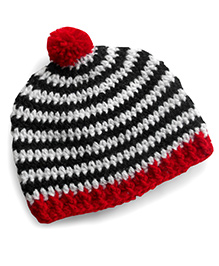 Dollops Of Sunshine Striped Hat - Red