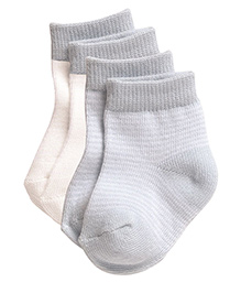 Playette Preemie Fashion Socks Blue And White - Pack Of 2