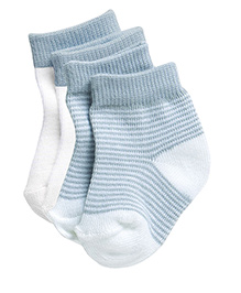Playette Socks Stripes Print Pack Of 2 - Blue White