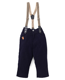 Spark Full Length Pants With Suspenders - Blue