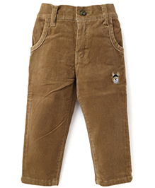 Spark Full Length Embroidered Jeans - Fawn