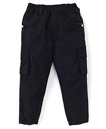 Spark Full Length Plain Pants - Black