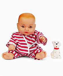 Speedage Cute Baby Doll With Pet Dog - Pink White
