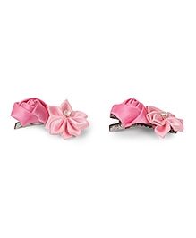 Funkrafts Set Of 2 Flower Hair Clip - Pink