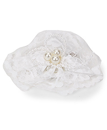 Funkrafts Lace Flower Hair Clip - White