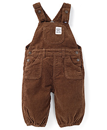 Pumpkin Patch Dungaree Style Romper - Brown