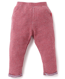 Pumpkin Patch Textured Full Length Track Pant - Pink