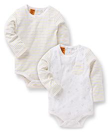 Pumpkin Patch Full Sleeves Onesies Pack of 2 - White