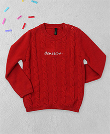 UCB Full Sleeves Sweater - Red