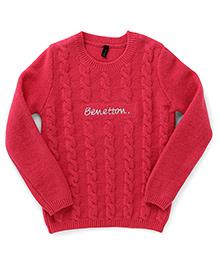 UCB Full Sleeves Sweater - Dark Pink