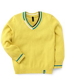 UCB Full Sleeves Sweater - Dark Yellow