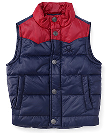 UCB Sleeveless Jacket - Navy Red