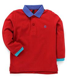 UCB Full Sleeves T-Shirt - Red Blue