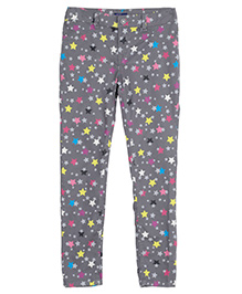 Bella Moda Star Print Denim - Grey