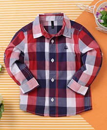 UCB Full Sleeves Check Shirt - Red Blue