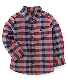 UCB Full Sleeves Check Shirt - Blue Red