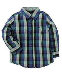 UCB Full Sleeves Check Shirt - Blue Green