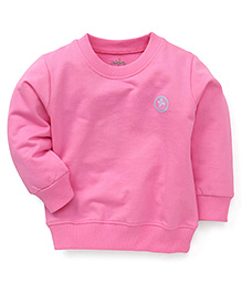 Babyhug Full Sleeves Plain Solid Color Sweatshirt - Pink
