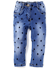 Little Kangaroos Full Length Stars Print Jeans - Blue