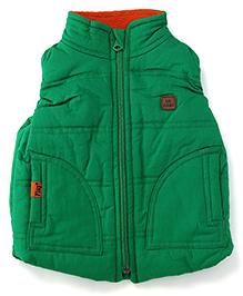 Play by Little Kangaroos Sleeveless Jacket Logo Patch - Green