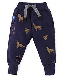 Play by Little Kangaroos Fleece And Thermal Bottoms - Navy