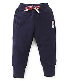 Play by Little Kangaroos Full Length Thermal Bottoms - Navy