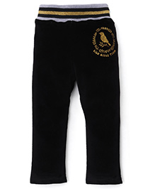 Play by Little Kangaroos Thermal Bottoms Bird Print - Navy