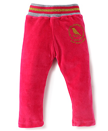 Play by Little Kangaroos Thermal Bottoms Bird Print - Pink