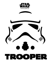 Orka Trooper Logo Digital Printed Wall Decal - Black