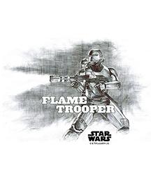 Orka Flame Trooper Digital Printed Wall Decal - Grey