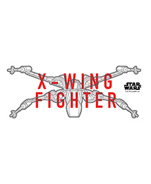 Orka X Wing Fighter Digital Printed Wall Decal - Multicolor