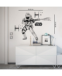Orka Storm Trooper Digital Printed Wall Decal - Black White